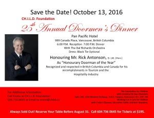 2016 Doormen's Dinner Save the Date 07.11.16